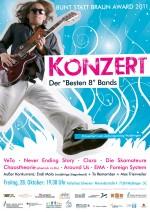 Bunt statt Braun Konzertposter 2011