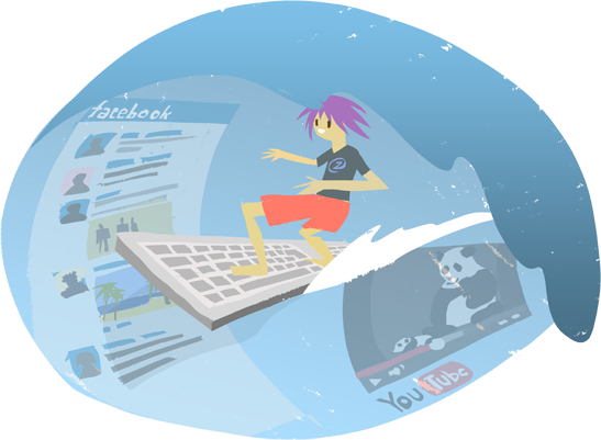 NetzpertInnen surfen elegant durchs Internet