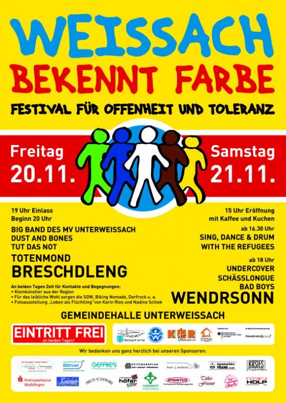Flyer_Weissach bekennt Farbe_Festival